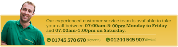 Our experienced customer service team is available to take your call between 07:00 to 17:30 Monday to Friday and 07:00 to 13:00 on Saturday.